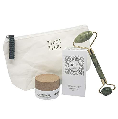 Trettl True - Veganes Hyaluron Luxuskosmetikset mit Anti-Aging Effekt inkl. Jade-Roller & Überraschungsgeschenk