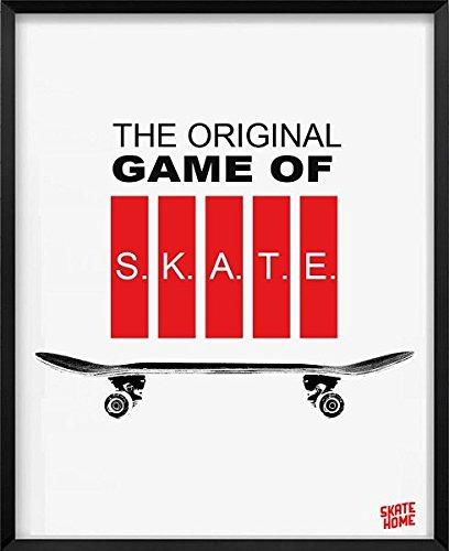 skate-home Ilustracion, impresión Digital,Cuadro Decorativo Minimalista y Moderno para Decoracion de Pared