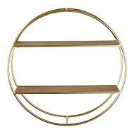Bloomingville Gold Circular Wall Shelf