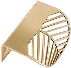 Bladvorm Nordic Golden Slaapkamer Meubels Handvatten Garderobe Lade Pull Knop Messing Deur Handvat Badkamer Apparatuur-L60...