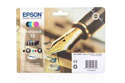 Epson WorkForce WF-2510 WF (16 / C 13 T 16264010) - original - Tintenpatrone MultiPack (schwarz, cyan, magenta, gelb) - 14,7ml