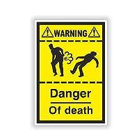MX-XXUOUO カーステッカー8.9CM * 13.1CM警告死亡危険おなら自転車ヘルメットカーステッカーデカール6-1571,2個