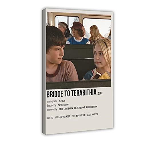 Filmschauspieler Josh Hutcherson AnnaSophia Robb Bridge to Terabithia 69 Leinwand-Poster, Wandkunst, Dekoration, Bild für Wohnzimmer, Schlafzimmer, Dekoration, Rahmen: 60 x 90 cm