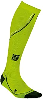 CEP Men's Progressive+ Compression Run Socks 2.0 for Running, Crossfit, Fitness, Calf Injuries, Shin Splits, Recovery, and Athletics, 20-30mmHg Compression, Hawaii Blue/Green, Size 5
