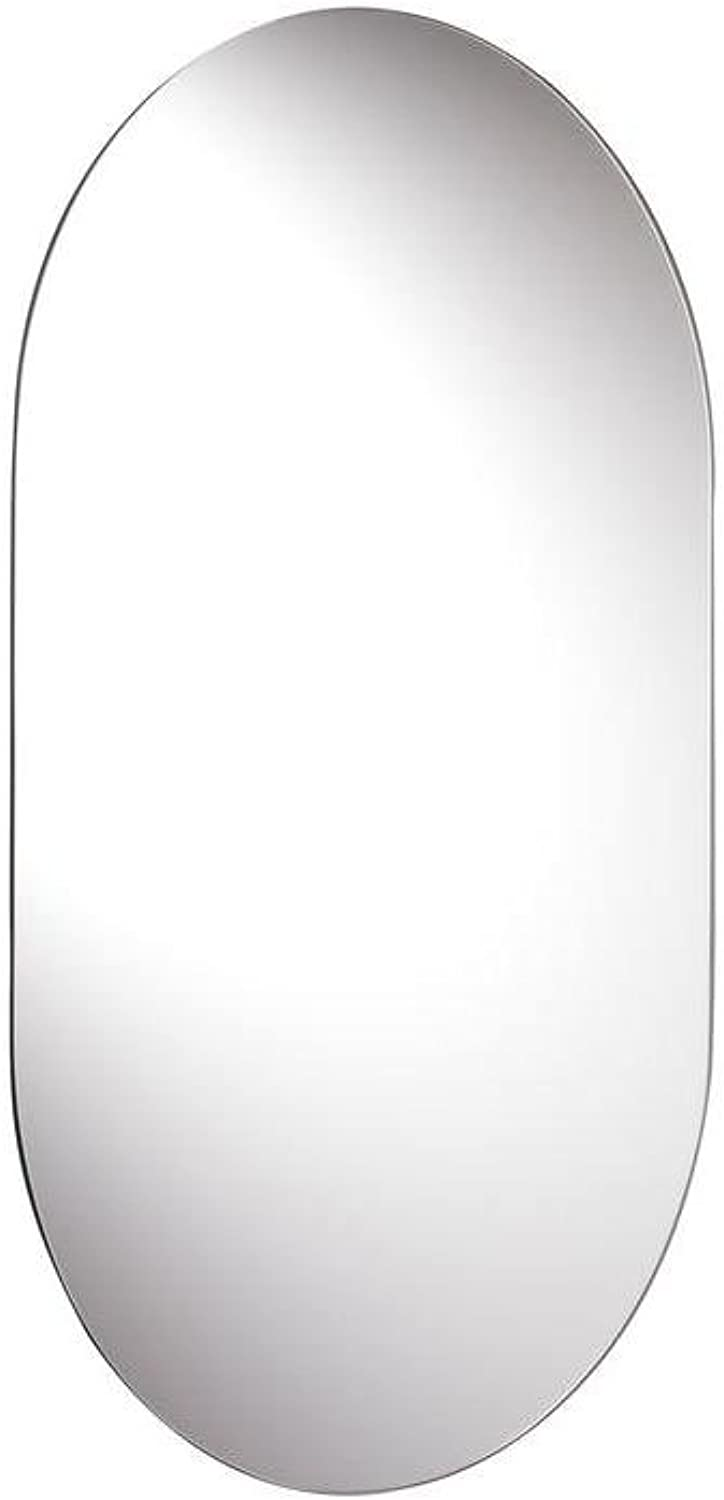 Croydex Harrop Rounded Rectangle Wall Mirror 26-Inch x 16-Inch with Hang 'N' Lock Fitting System