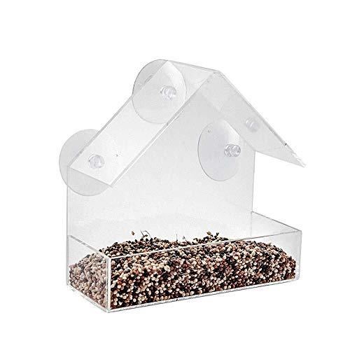 Wmchiwan Seed Home Tabelle Clear Viewing Winter Fenster Wild Saugnapf Bird Feeder Geschenk Vogel Fütterer