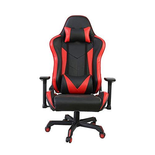 HYY-YY Pelle E-Sport Chair Corsa Office Chair Girevole Sedia reclinabile PU Rotazione di 360 Gradi for Il Gioco di Lavoro (Colore: Foto a Colori,...