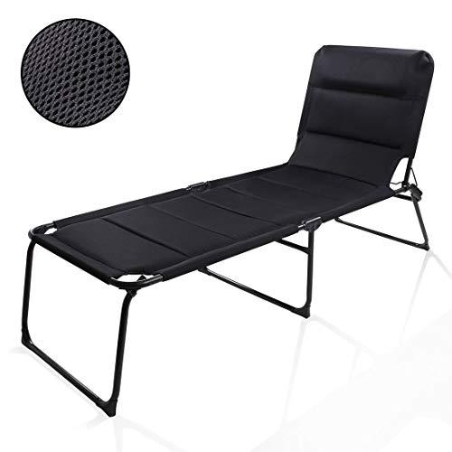 your GEAR Sonnenliege Salina 3D - XXL Campingliege mit Quick Dry Polsterung & 3D Mesh-Bezug - Bequeme Caravan Klappliege