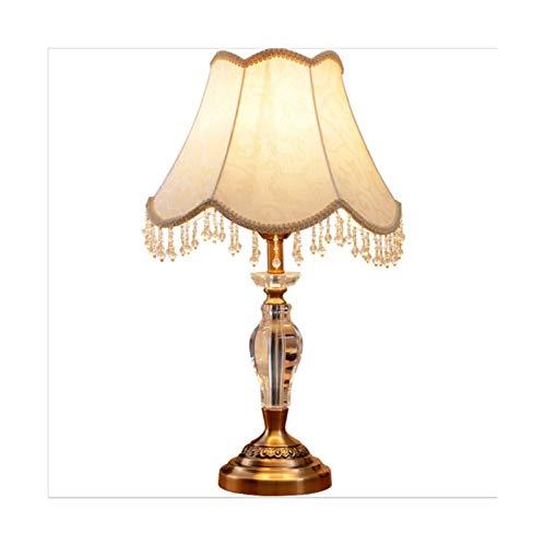 Lámpara de mesa de noche de dormitorio Lámparas de mesa for lámparas de mesa de dormitorio Lámpara de mesa de cristal, cuerpo de lámpara de vidrio pulido a mano, adecuado for leer luz en la vida.
