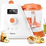 Baby Food Maker |6 in 1 Baby Food Processor Blender Grinder Steamer Warmer |25oz Borosilicate Glass Bowl Auto Cleaning |Organic Healthy Multifunctional Mills Machine for Infants and Toddlers Purees