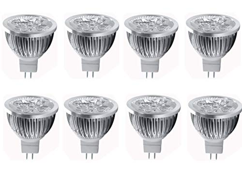 4W LED MR16 Bulbs 12V 4W LED Spotlight Bulb for Landscape Track Light, MR16 GU5.3 Base,12 Volt,4W(35W Equivalent Halogen),Warm White 3000K,8 Pack
