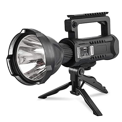 RTOFO Antorcha LED, Potente Linterna de Mano Recargable por USB, antorcha portátil para Exteriores con 4 Modos de iluminación para Acampar y Caminar