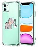 Suhctup Funda Transparent Compatible para iPhone 12 Pro MAX,Carcasa Protectora [Antigolpes] Suave Silicona TPU Bumper Cojín de Aire de Cuatro Esquinas Protector Gel para iPhone 12 Pro MAX,A6