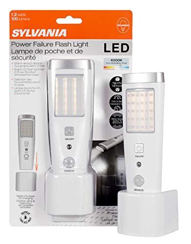 LEDVANCE Sylvania 60138 Induction Charge LED Nightlight with Motion Sensor and Emergency Flashlight Night Light, White