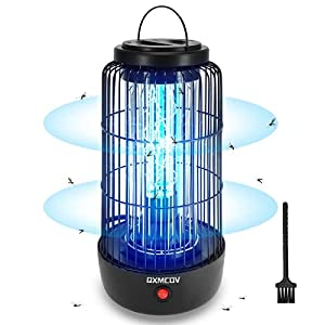 Qxmcov Lámpara Antimosquitos Electrico, 40m² 11W UV Lámpara Anti Mosquitos Interior con Caja de Recogida y Cepillo Limpio para Mata Mosquitos, Insectos, Polillas, Moscas, Efecto