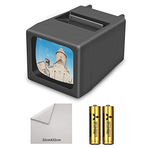 Visualizzatore diapositive illuminato a 35 mm illuminato a LED(2 batterie AA incluse)