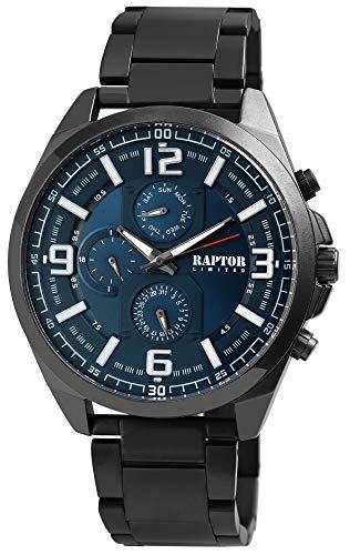Raptor Limited Herren-Uhr Edelstahl Multifunktion Analog Quarz RA20247