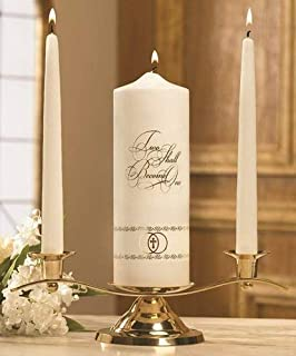 Unity Candles Two Shall Become One Set, 9 Inch x 3 Inch