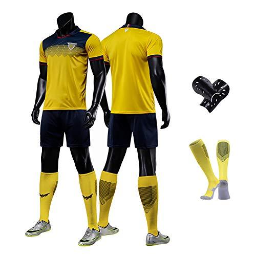 CWWAP Uniforme de fútbol 2020 Ecuador para Hombres, Adultos Jersey de fútbol, poliéster poliéster Jersey Personalizado Equipo de Entrenamiento de fútbol-XL