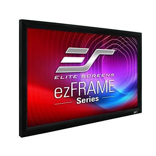 Elite Screens R120WH1 ezFrame Series Leinwand (Diagonal 304,8 cm (120 Zoll), Höhe 149,9 cm (59 Zoll), Breite 265,9 cm (104,7 Zoll), Format 16:9) CineWhite