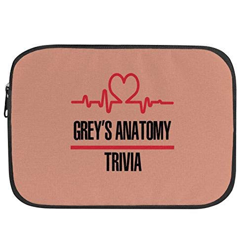 Greys_Anatomy Laptop Sleeve Case Notebook Computer Protective Bag Tablet Briefcase Carrying Bag for Office Worker