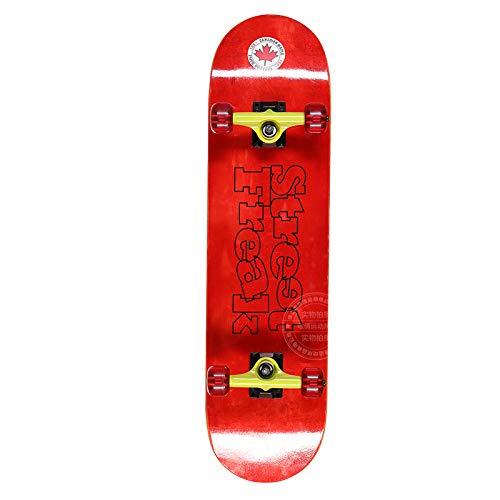 Ahornkarikatur Muster Doppeltes Des Skateboard vier Fahrbares Doppelte Neigung Verzerrendes Landstraßen Reise Sport Skateboard