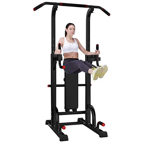 Dip Stands Fitness Gimnasio Oficina Capacidad de la torre de energía Barra de levantamiento Soportes de inmersión de torre equipos de ejercicios cerrados ( Color : Negro , tamaño : 149*63*13CM )
