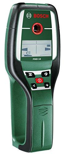Bosch Digitales Ortungsgerät PMD 10 (max. Messtiefe Stahl/Kupfer/Stromleitung/Holz: 100mm/80mm/50mm/25mm, in Tasche)