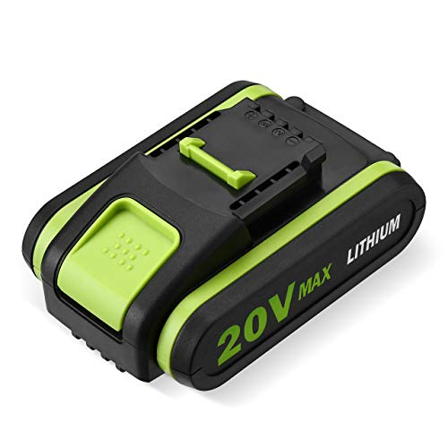Powerextra - Batería de repuesto para Worx WA3551 WA3551.1 WA3553 WA3553.2 WA3641 WG629E WG546E WU268, 3000mAh 20V para Worx Power Tools