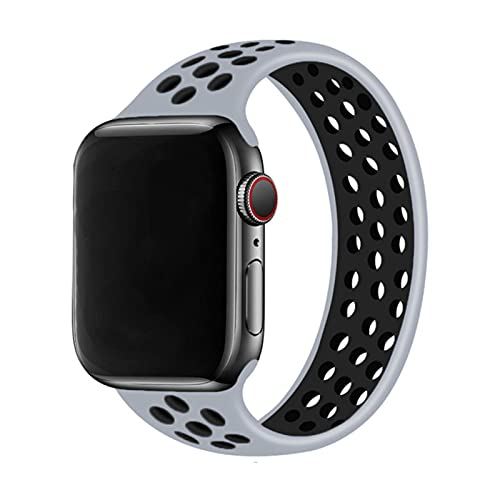 Solo Loop correa para Apple Watch Band 44mm 40mm 38mm 42mm silicona transpirable banda elástica iWatch Series 3 4 5 SE 6