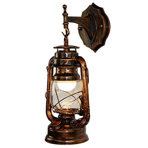 Eisen Wandleuchte Wasserdichte Outdoor Wandleuchte Vintage Licht Flur Wandleuchter,Retro Laternen Wand Lampe 110-240v 60w