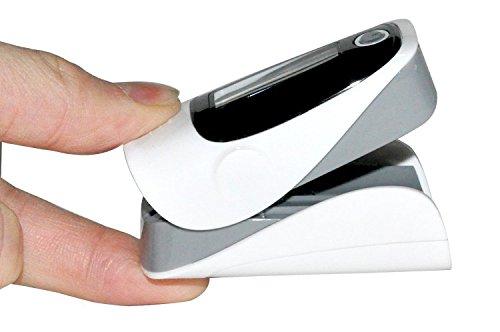 PulsiOxímetro de dedo y monitor de frecuencia cardíaca - Mejor precisión - Buen diseño - Color : Verde