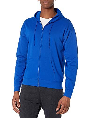 Hanes Men's Full-Zip Eco-Smart Fleece Hoodie, Deep Royal, Large