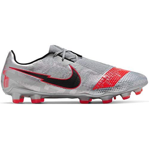 Nike Phantom Venom Elite FG - Zapatillas de deporte para hombre, color gris y rojo, Multi (N/A), 43 EU