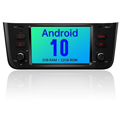 AWESAFE Autoradio 1 Din per Fiat Linea Punto Evo 2012-2015 Android 10 (2G+32GB) 6.2 pollici Car Stereo Radio con Navigatore SD USB BT WIFI Comandi al volante Mirror Link (Nero Brillante)
