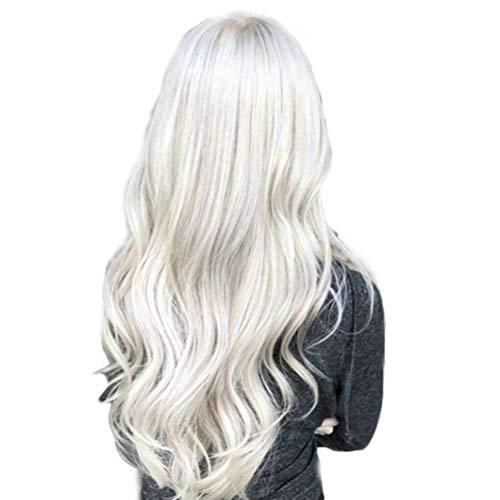 Peluca Blanca Larga marca Lurrose