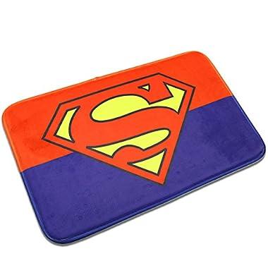 Superman Mats Cover Non-Slip Machine Washable Outdoor Indoor Bathroom Kitchen Decor Rug ,