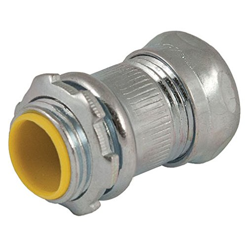 Hubbell-Raco 2913-8 Connector, Compression, 3/4-Inch Trade Size, EMT, Steel, Insulated