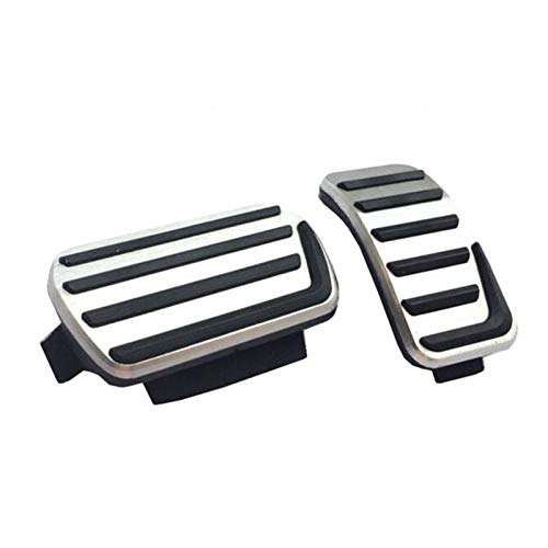 Apricot blossom Autozubehör Aluminiumlegierung Beschleuniger Gasbremspedal Fit für Volvo S40 V40 C30 an, rutschfeste Pedalplatte Pads Styling