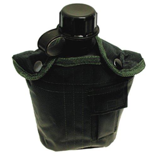 US PLASTIKFELDFLASCHE Nylonbezug Feldflasche Trinkflasche Outdoor Trekking Ski, Oliv/OD Green