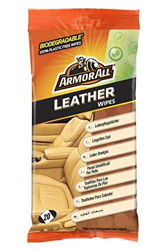 Armor All GAA39020ML TOALLITAS Limpia TAPICERIAS Piel BIODEGRADABLES, 116x195x243