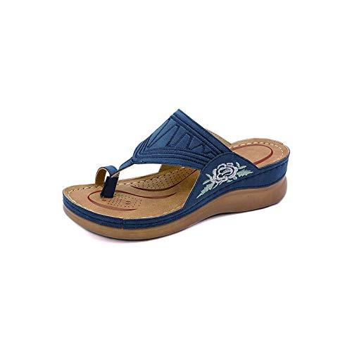Sandalias De Mujer Sandalias Planas Romanas De Verano Sandalias De Cuña Con Punta Abierta Correa De Tobillo Zapatos De Plataforma De Tacón Alto Playa Al Aire Libre Senderismo Sandalias Cómodas