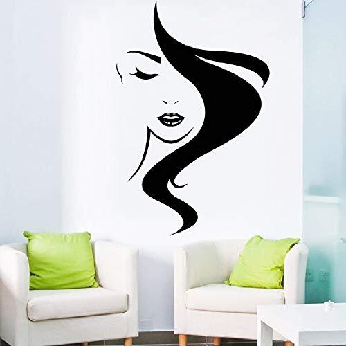 Kunst Salon Aufkleber Schönheitssalon Wandaufkleber Mädchen Frauen Aufkleber Abnehmbare Nette Dekor Raumdekoration Poster ~ 1 84 * 126 cm