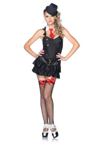 Leg Avenue Women's Mafia Princess Costume, Black, Small/Medium