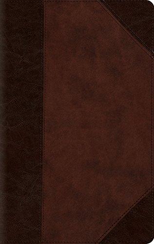 ESV Large Print Compact Bible (TruTone, Brown/Walnut, Portfolio Design)