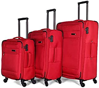 Giordano Luggage Trolley Bags For Unisex 3 Pcs, Red, 163096