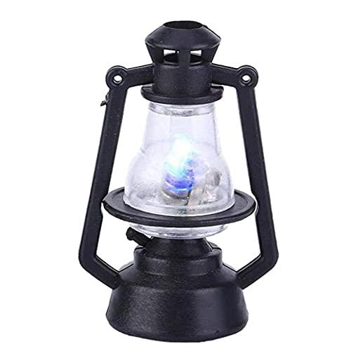 XKJFZ Linterna casa de muñeca de Aceite de la lámpara Miniatura maniquí LED Mini luz de la Vendimia Accesorios Modelo de simulación de Juguete