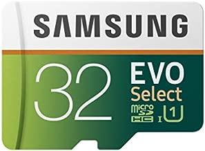 SAMSUNG (MB-ME32GA/AM) 32GB 95MB/s (U1) microSDHC EVO Select Memory Card with Full-Size Adapter