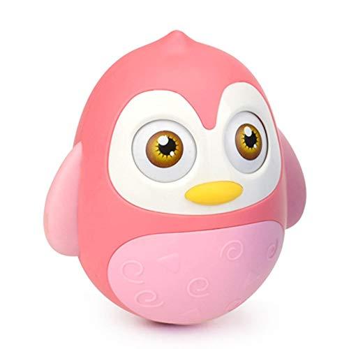Roly Poly Baby Toys, Pingüino Tumbler Wobbler Juguete, Time Time Juguetes, Juguetes Musicales Bebé Bell Empotrado, Juguetes para bebés 6 a 12 Meses, Penguin Tumbler Wobbler para Boy Boy Gifly Gifts