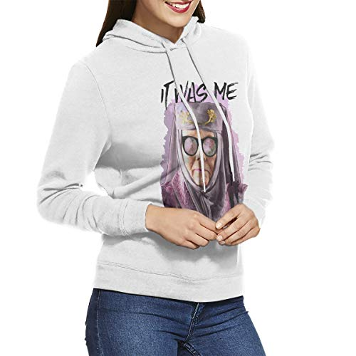 77xmy Tell Cersei It Was Me suéter con Capucha para Mujer, Sudaderas con Capucha para Mujer Blanco Blanco XL